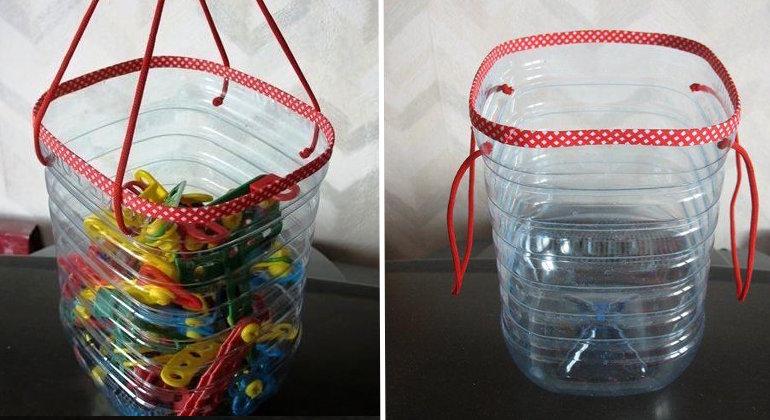 Корзины из пластиковых бутылок