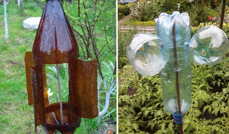 Отпугиватель вредителей из пластиковой бутылки