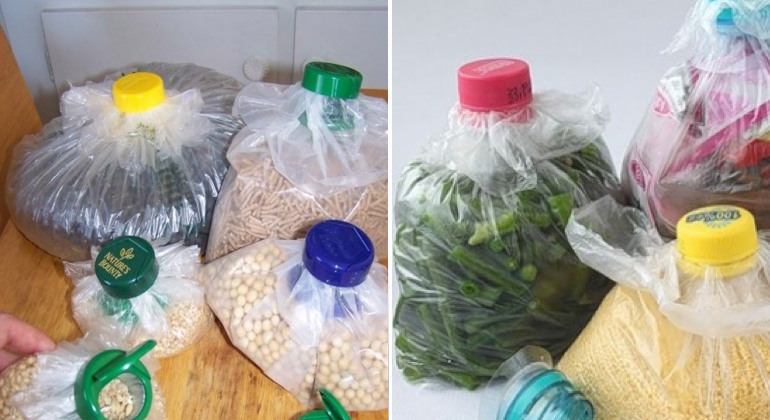 Делаем крышки для целлофановых пакетов из пробок от бутылок