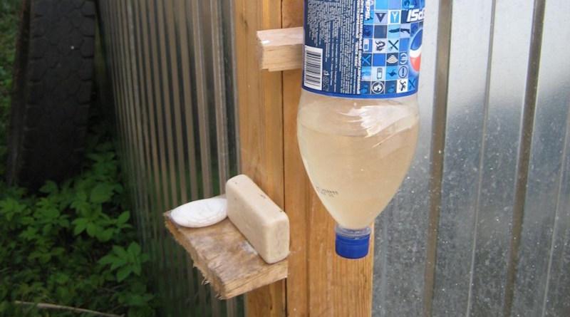 Умывальник из пластиковой бутылки