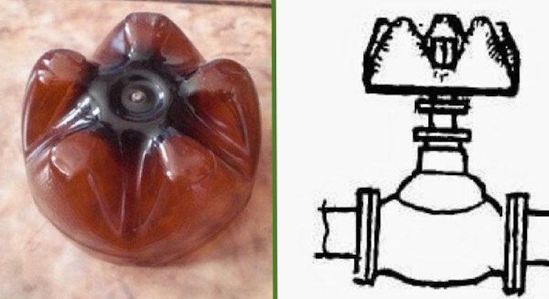 Вентиль для крана из донышка пластиковой бутылки