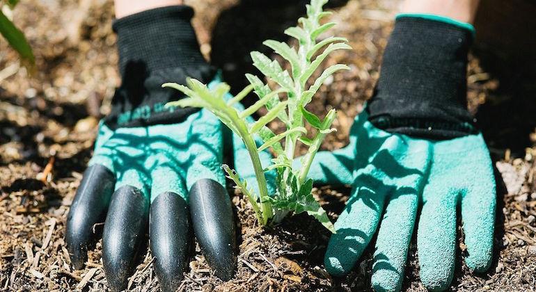 Садовые перчатки с коготками
