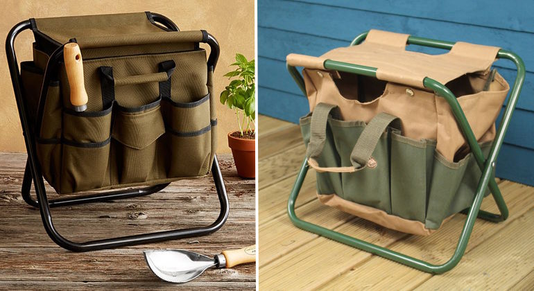 Компактный стул для работы в огороде