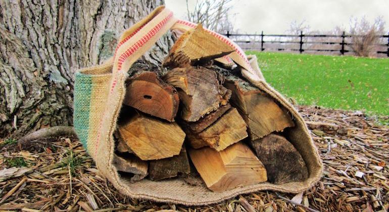 Сумка для переноски дров и хвороста