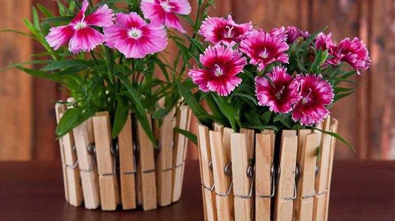 Кашпо для цветочных горшков из жестяной банки