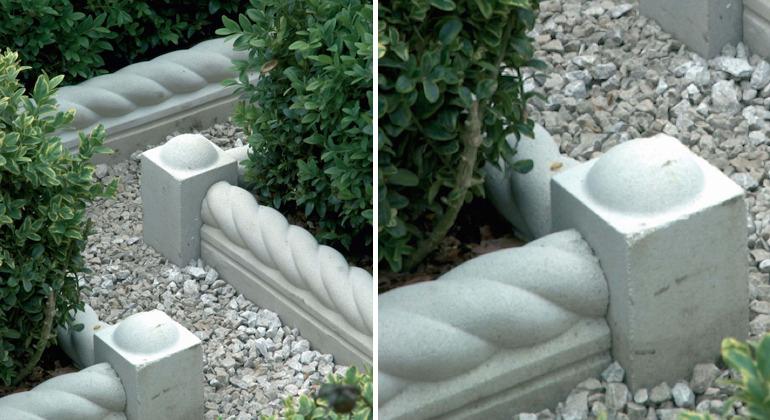 Заборчики для грядок из бетонных элементов